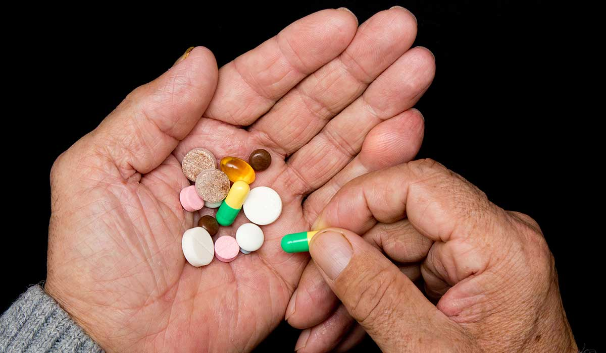 reducción de medicina en paciente