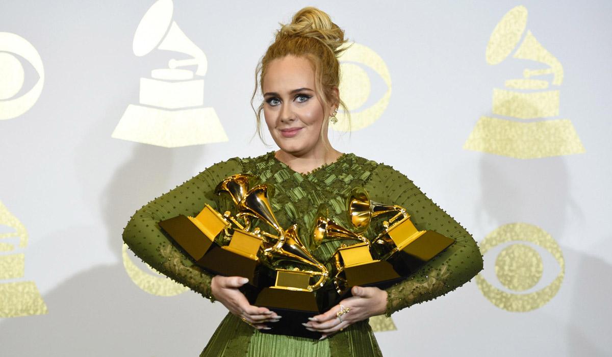 la noche de Adele en los grammys 2017