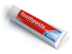 Pasta de dientes para quemaduras