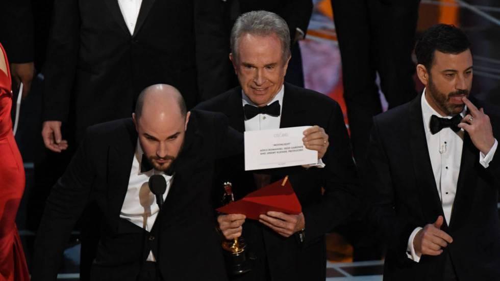 confusión en la entrega del Oscar