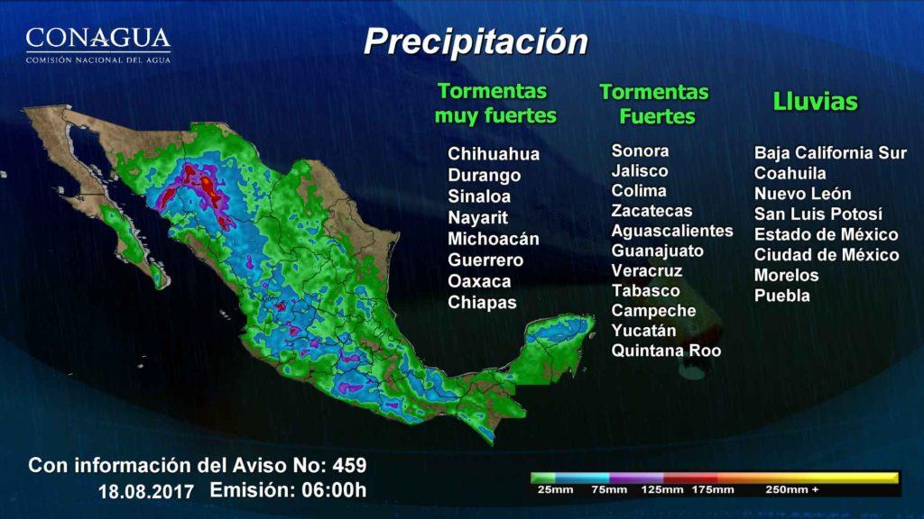 tormentas por Onda Tropical