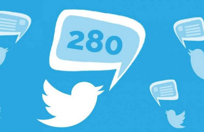 280 caracteres en Twitter