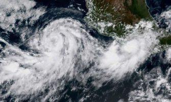 Llega tormenta tropical Norma con intensas lluvias
