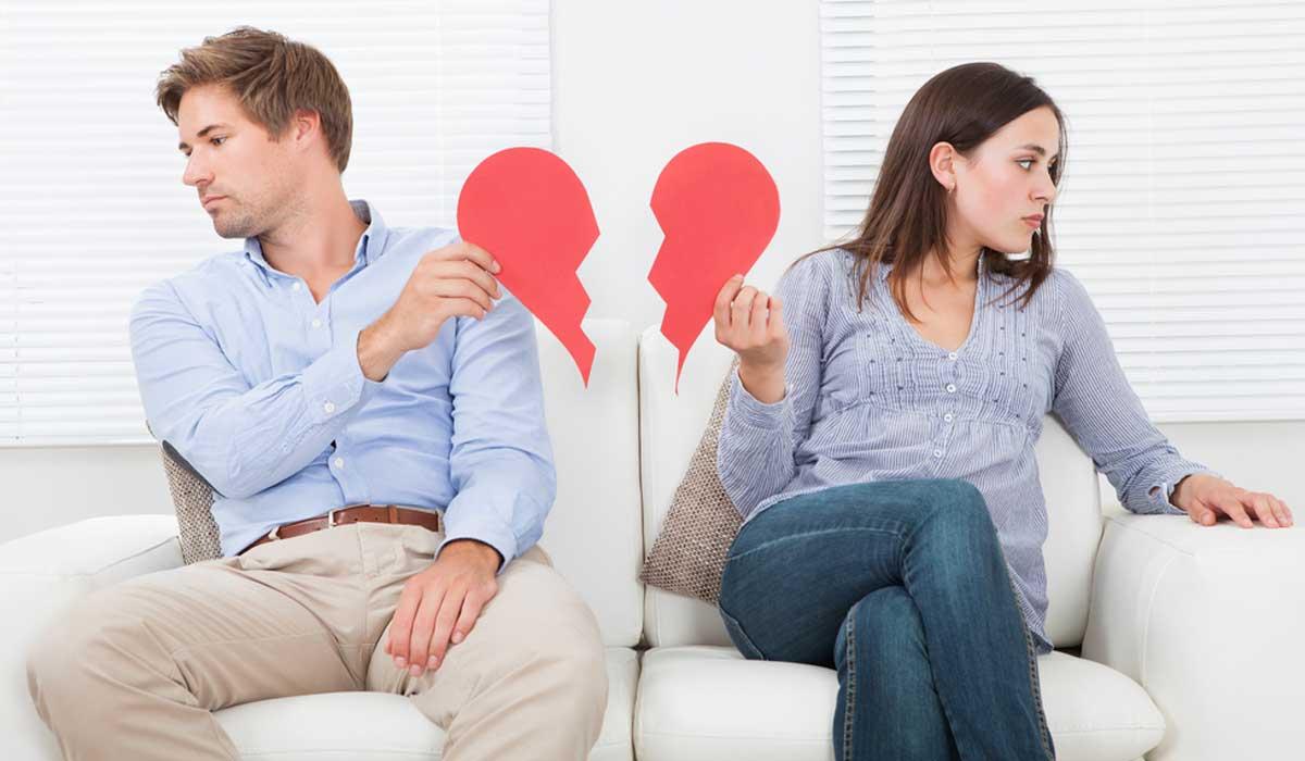 señales exageradas de divorcio en tu pareja