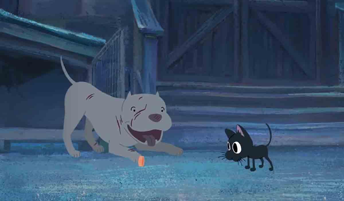 una historia animada sobre un pitbull