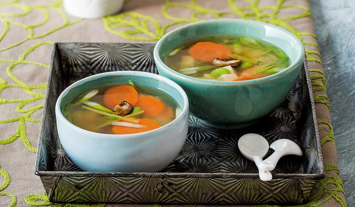 Calorias jengibre sopa de