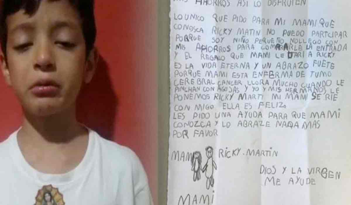Gastó sus ahorros para que su mamá conociera a Ricky Martin
