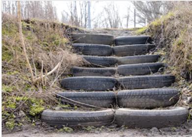 Escaleras con llantas
