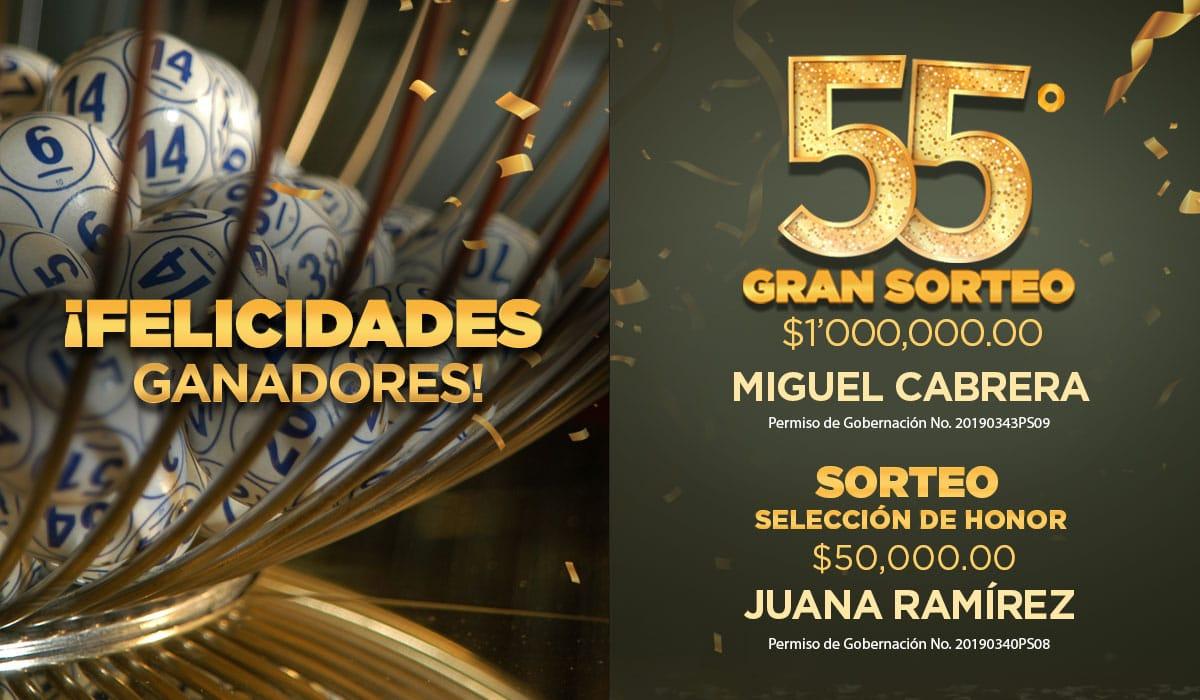 Conoce al ganador del 55º Gran Sorteo por 1 millón de pesos