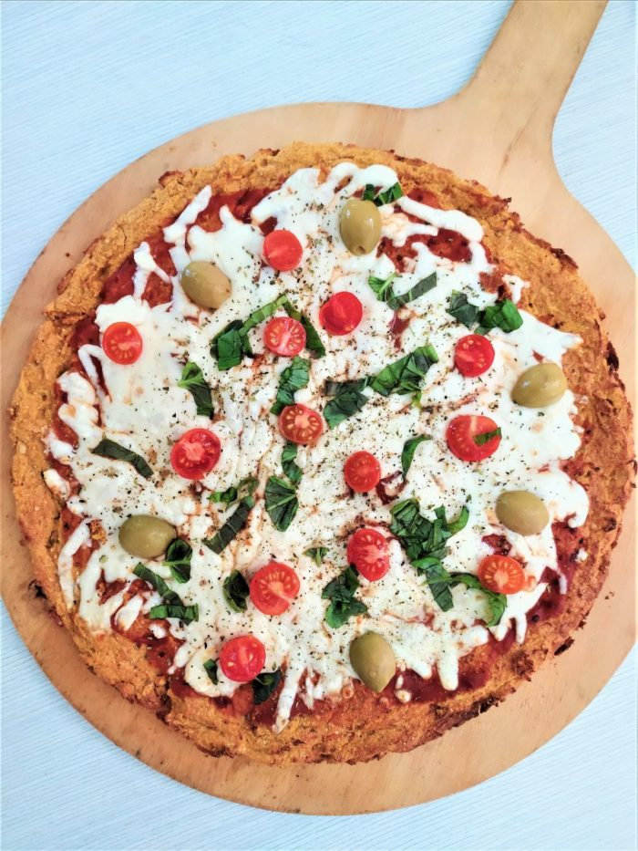 pizza de zanahoria