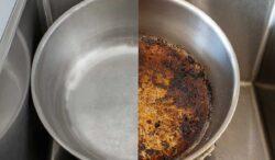 para limpiar una olla o sartén quemado usa esto
