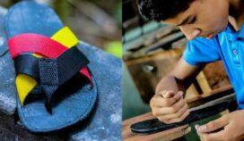 Andrés, un niño venezolano que vende chanclas para sobrevivir