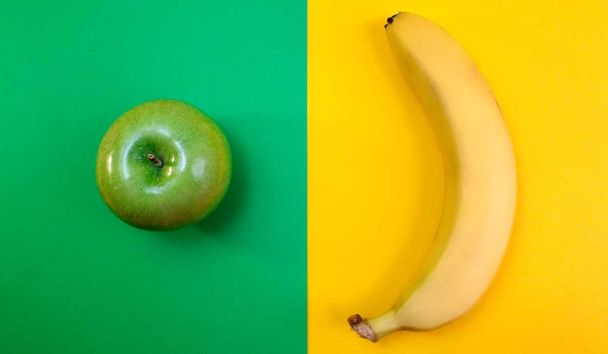 prepara este licuado de plátano, manzana y avena