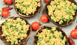 portobellos gratinados con brocoli
