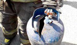 bombero evito que un tanque de gas explotara en la Ciudad de México